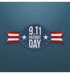 Patriot Day 9-11 Emblem with Ribbon vector
