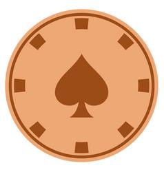 peaks suit copper casino chip vector image
