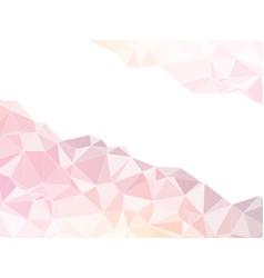 pink white geometric design vector image
