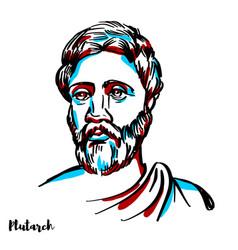 Plutarch portrait vector