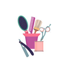 professional hairdresser tools barber fashion vector image