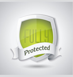 Protection shield concept design security badge vector