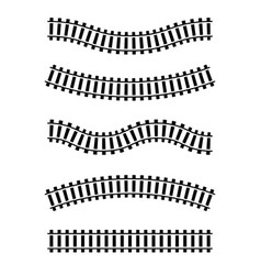 railway train track route rail pattern vector image