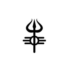 Religion symbol shiva icon element of religion vector