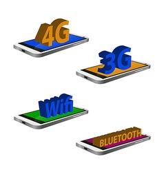 Set of cellphones vector