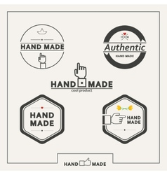 Set of emblems for marking handicrafts vector
