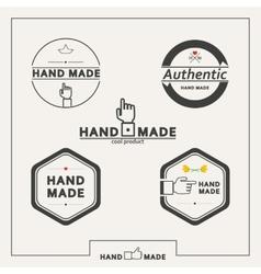 Set of emblems for marking handicrafts vector image