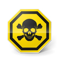 Sign with skull and crossed bones vector image