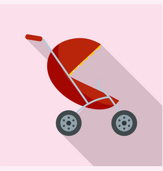 small pram icon flat style vector image