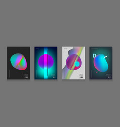 stock set cover templates with vector image