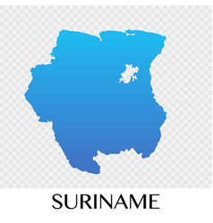 suriname map in south america continent design vector image
