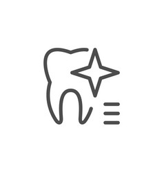Teeth whitening icon vector