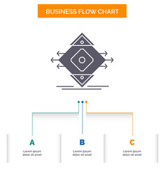 Traffic lane road sign safety business flow chart vector