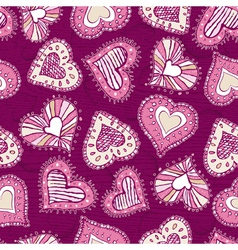 valentines background with hand drawn hearts vector image