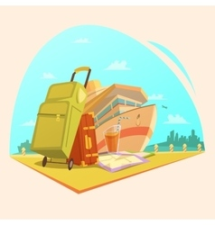 Voyage Cartoon Concept vector