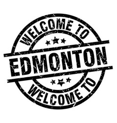 Welcome to edmonton black stamp vector