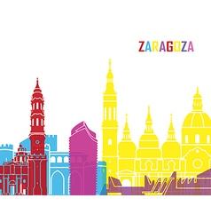 Zaragoza skyline pop vector