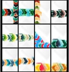 Set of arrow backgrounds vector image