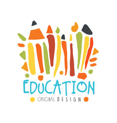 abstract education day label concept with school vector image