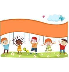 Children's card vector