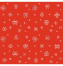 Christmas pattern with snowflakes on a red vector image vector image
