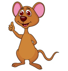 Cute mouse cartoon thumb up vector image vector image