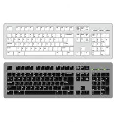 keyboard computer vector image vector image