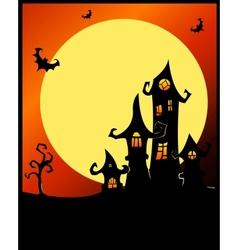 Terrible halloween castle vector image vector image