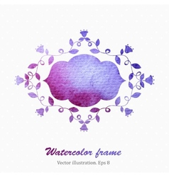 Watercolor frame vector image