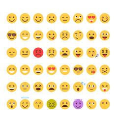 yellow cartoon face set emoji people different vector image