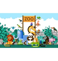Zoo Background vector image vector image