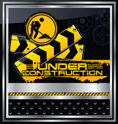 abstract under construction background vector image vector image