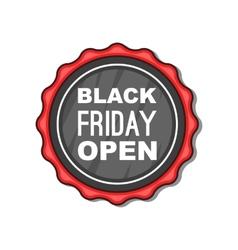 Black Friday sale badge icon cartoon style vector image vector image