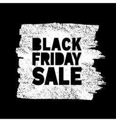 Black Friday Sale hand drawn white grunge stain vector image vector image