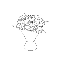 Bouquet icon isometric 3d style vector image vector image