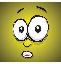 emotions yellow shocked vector image vector image
