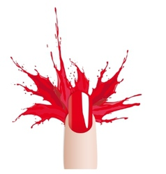 Fashion colours nail polish splash vector image vector image