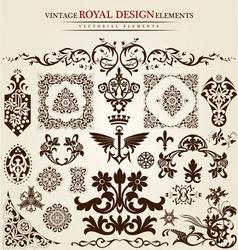 flower vintage royal design vector image