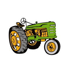 Green Tractor vector image vector image