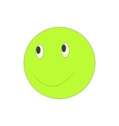 Happy smiley emoticon icon cartoon style vector image vector image