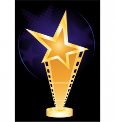 movie award vector image