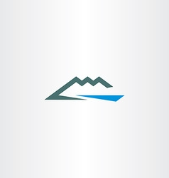 river and mountain icon symbol element vector image vector image
