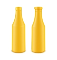 Set of Plastic Yellow Bottle for Branding vector image vector image