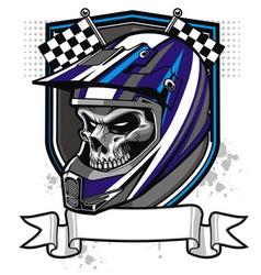 Skull rider vector image vector image