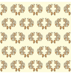vintage seamless wallpaper yellow vector image