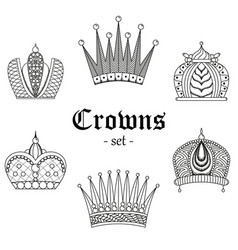 a set of crowns for design vector image vector image