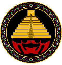 ancient maya pyramid vector image vector image