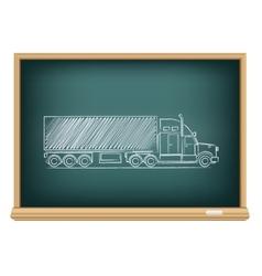 board truck vector image