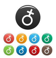 female gender symbol icons set simple vector image