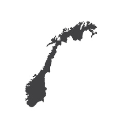 Norway map silhouette vector image vector image